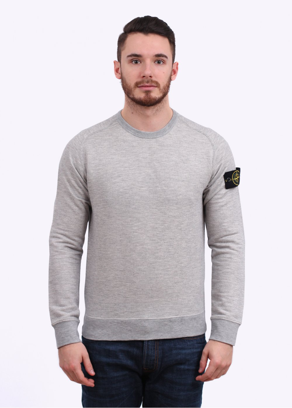stone island crew sweater pearl grey. Black Bedroom Furniture Sets. Home Design Ideas
