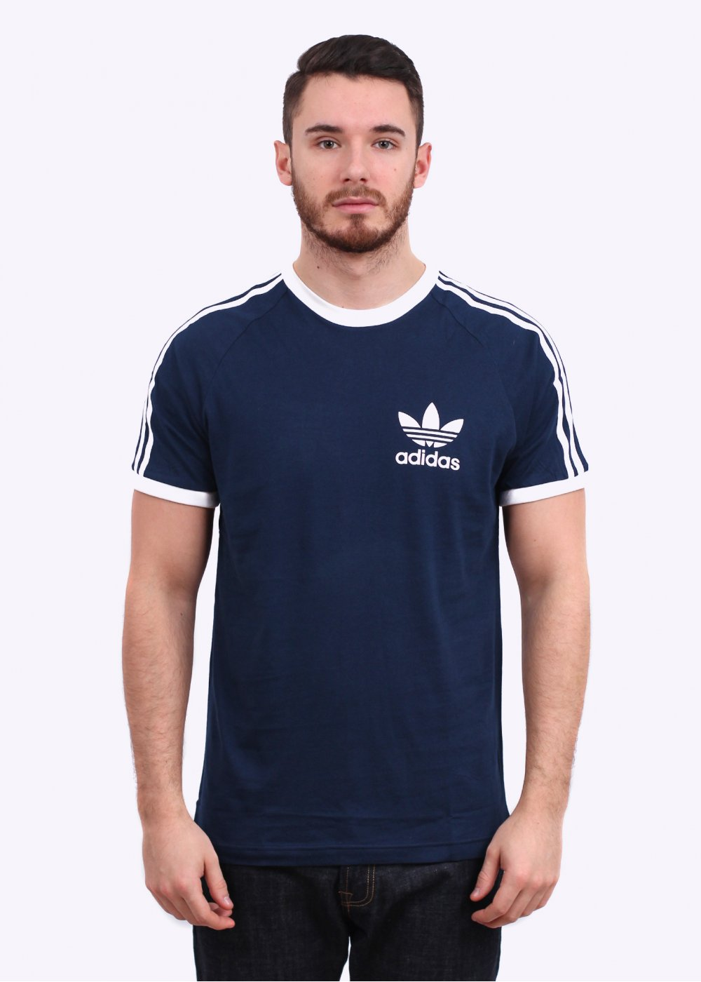 c9abb27ac8 adidas Originals Sports Ess Tee - Navy