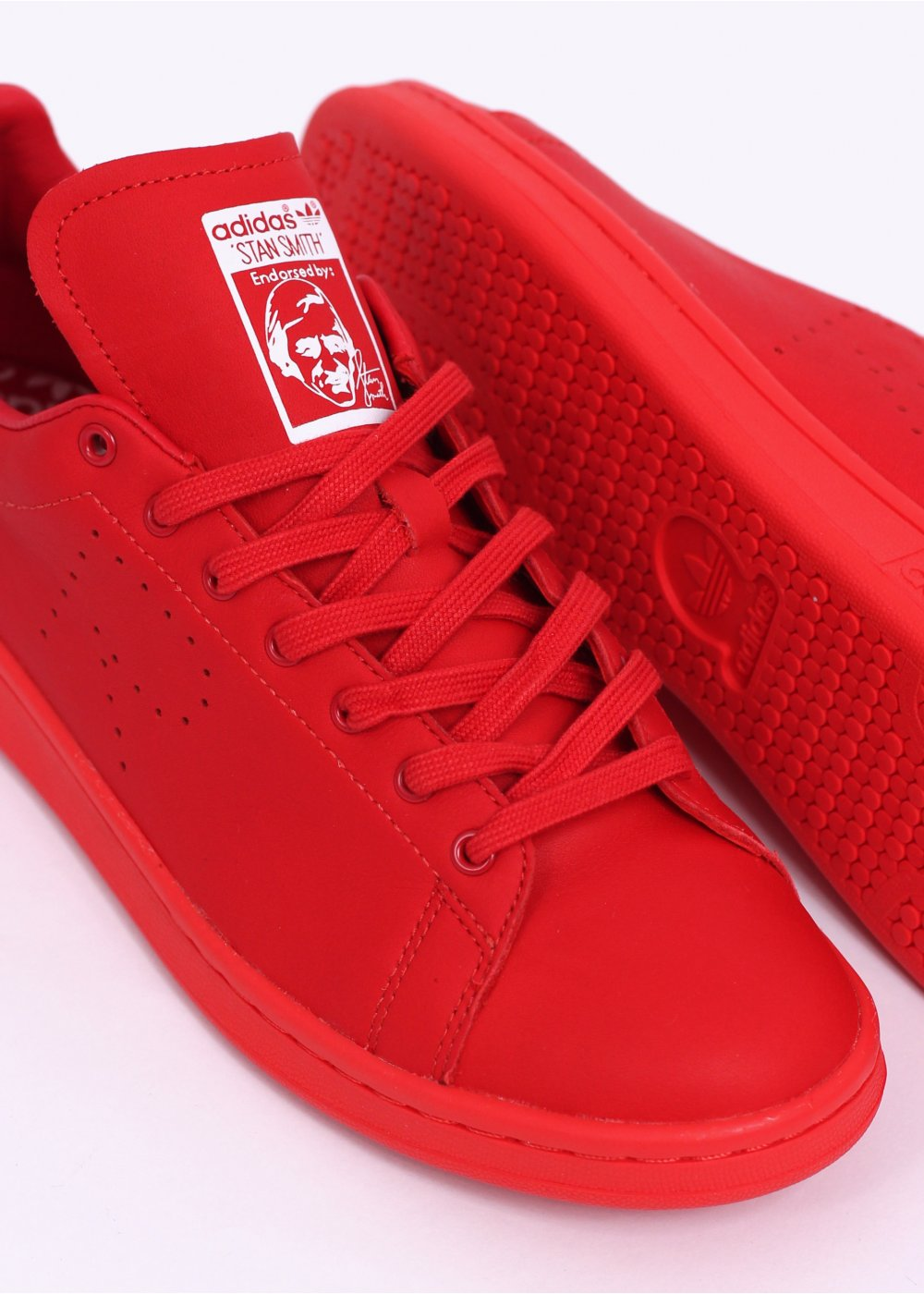adidas Originals x Raf Simons Stan Smith Trainers - Red   White de3aba19d
