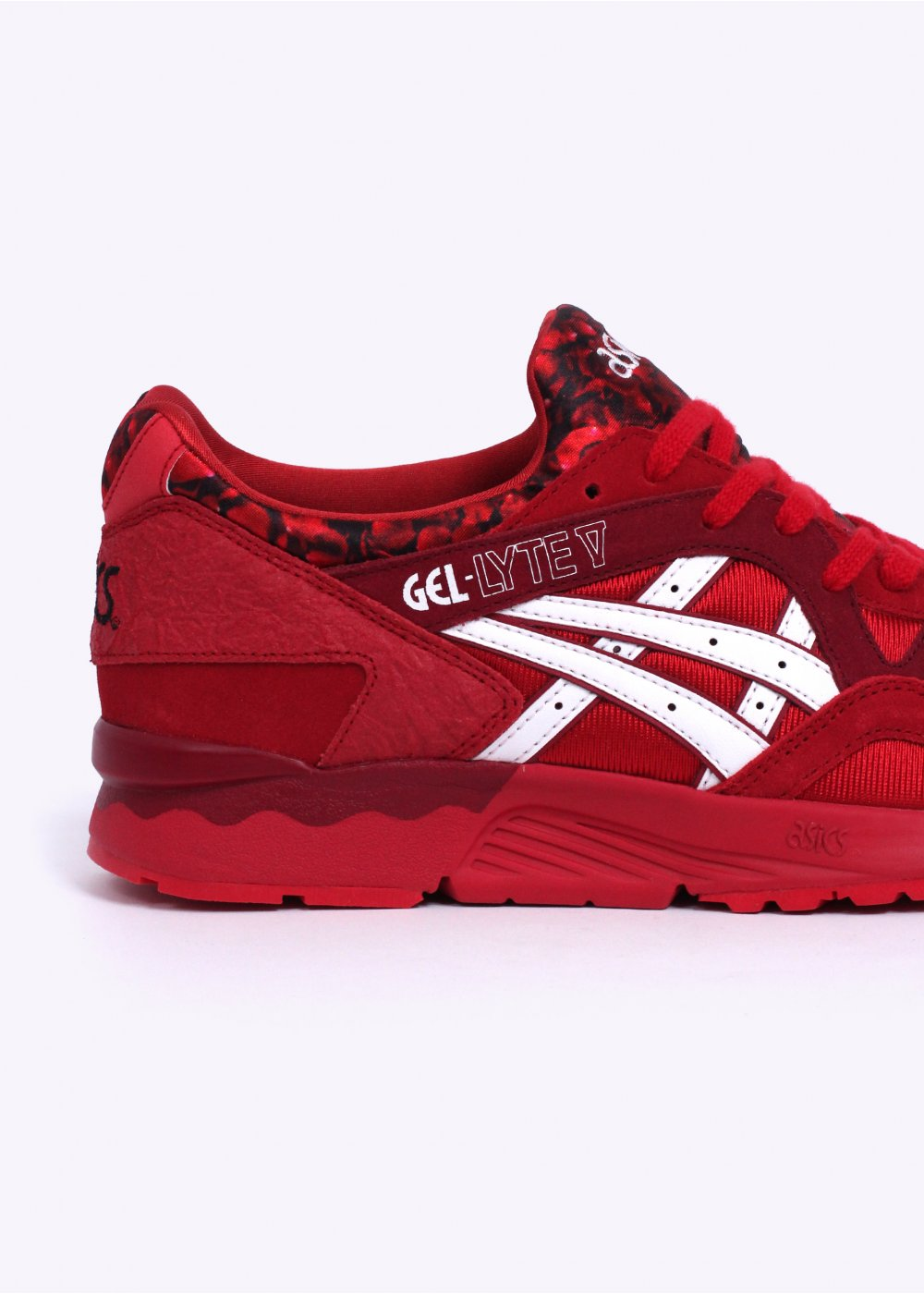 asics gel lyte v red and white