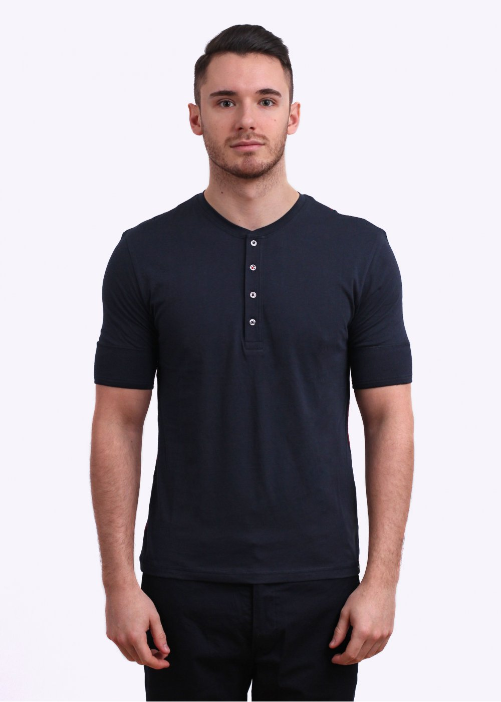 Black t shirt navy jeans - Henley T Shirt Navy