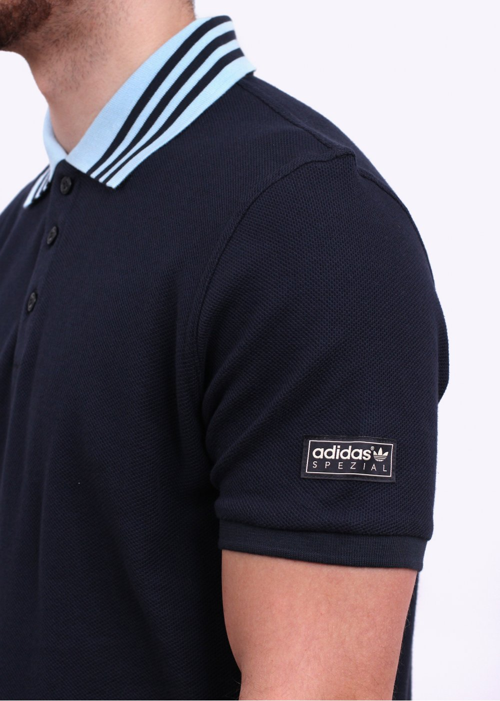 adidas Originals Spezial 3 Stripes Polo Shirt Night Navy