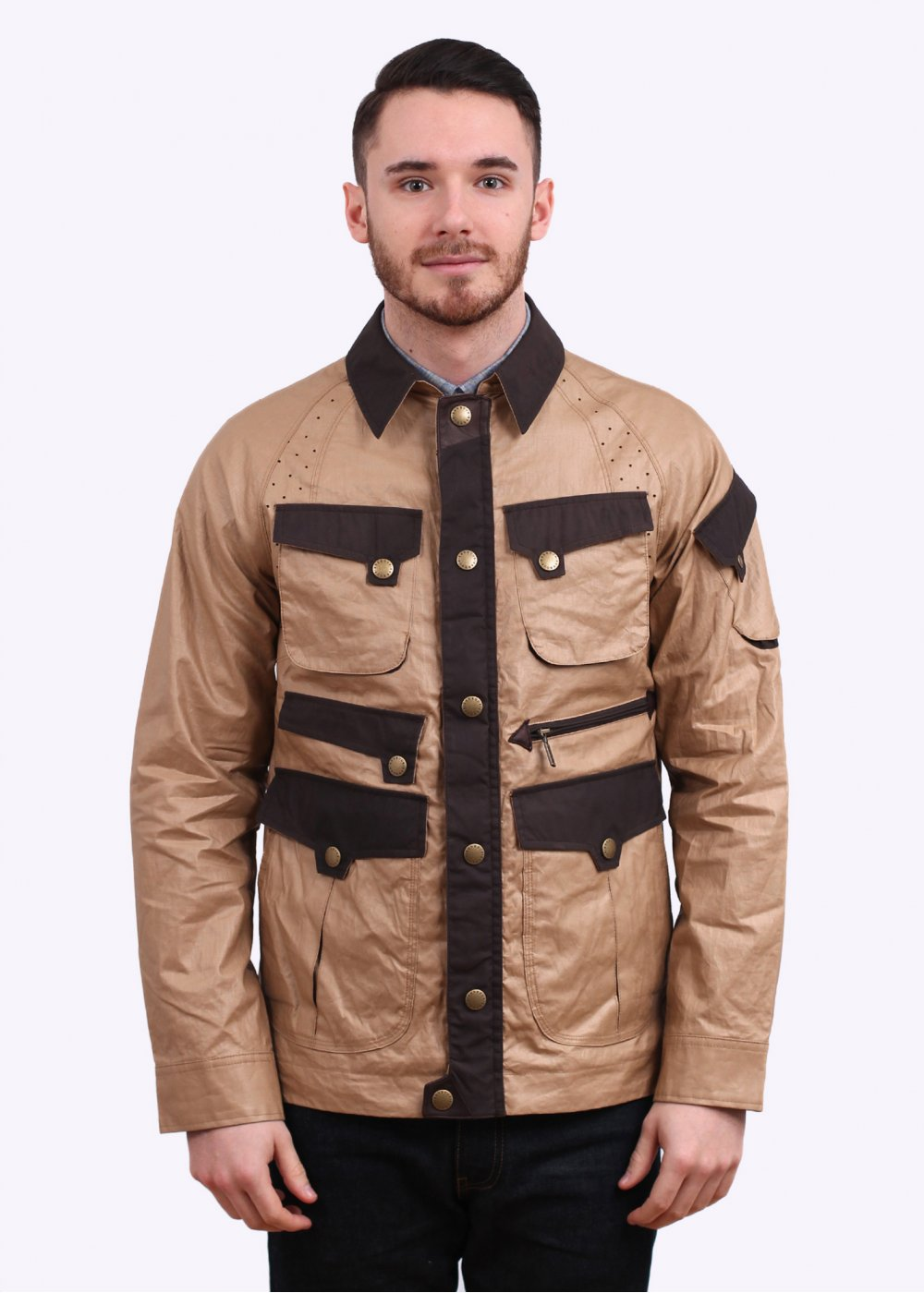 ef86ddc4ab0d Barbour x White Mountaineering Raglan Sleeve Jacket - Bark