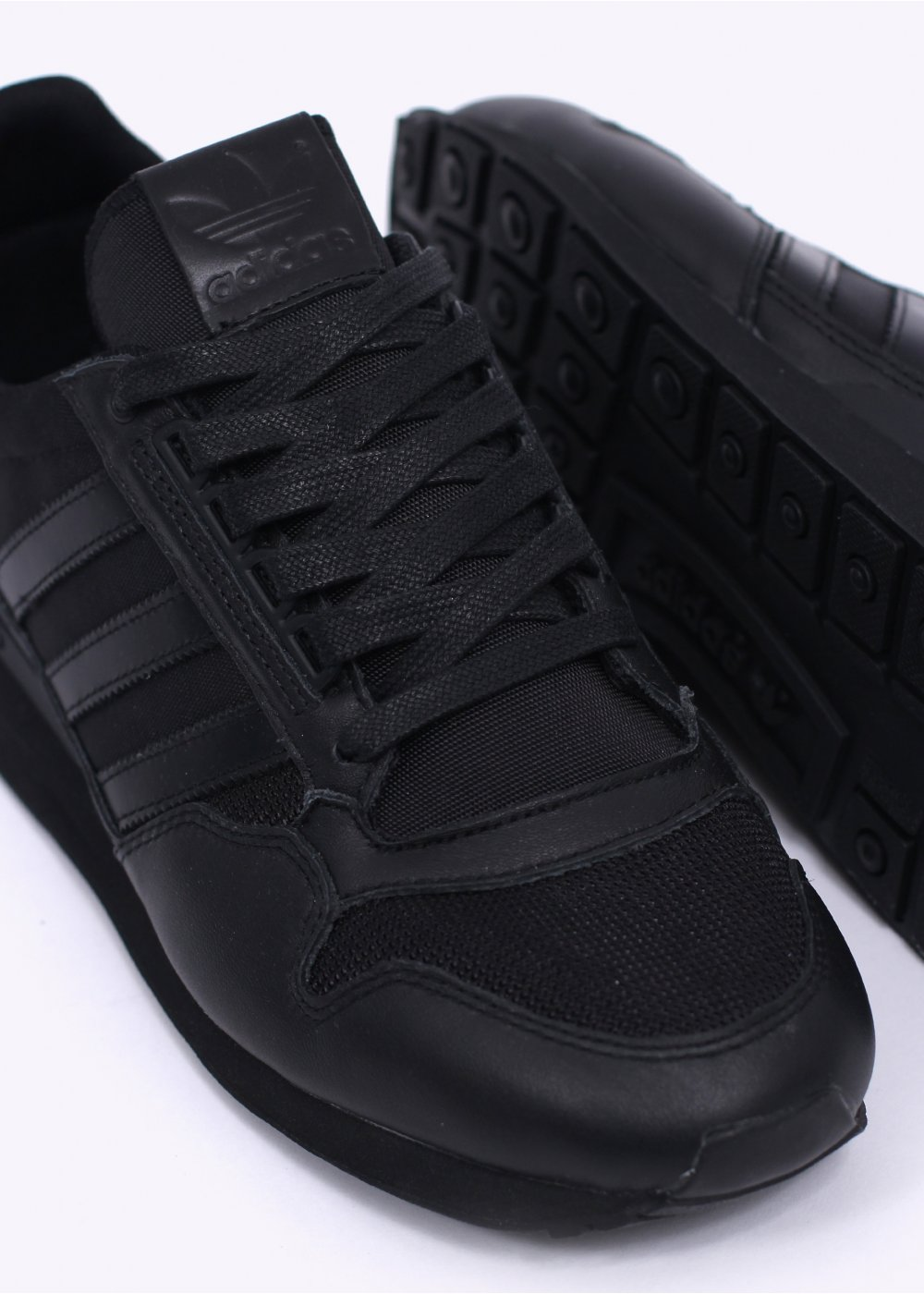 newest 294dd d339a ZX 500 OG Leather Trainers - Triple Black