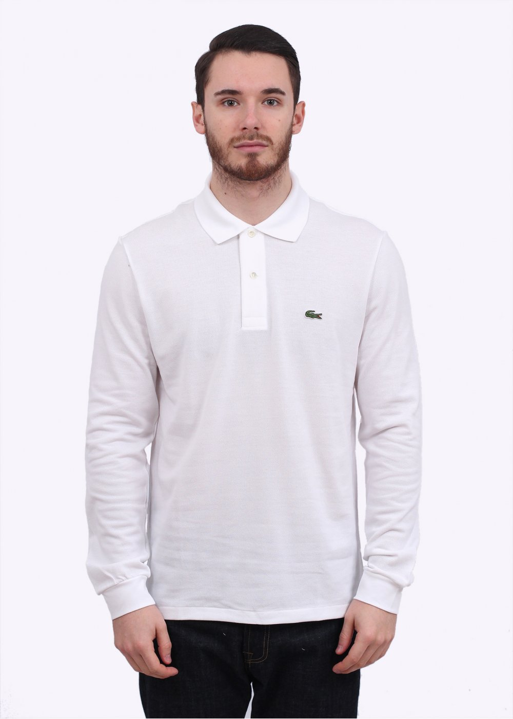 lacoste long sleeve polo shirt white. Black Bedroom Furniture Sets. Home Design Ideas