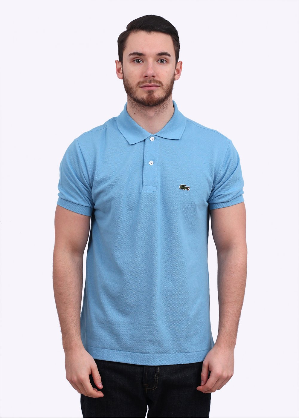 178e45c2 Lacoste Short Sleeve Logo Polo Shirt - Light Blue