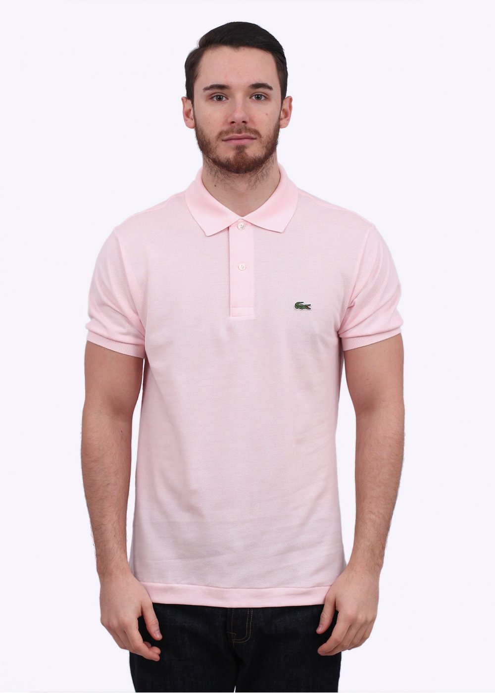 Lacoste Short Sleeve Logo Polo Shirt - Light Pink a746b81fa2