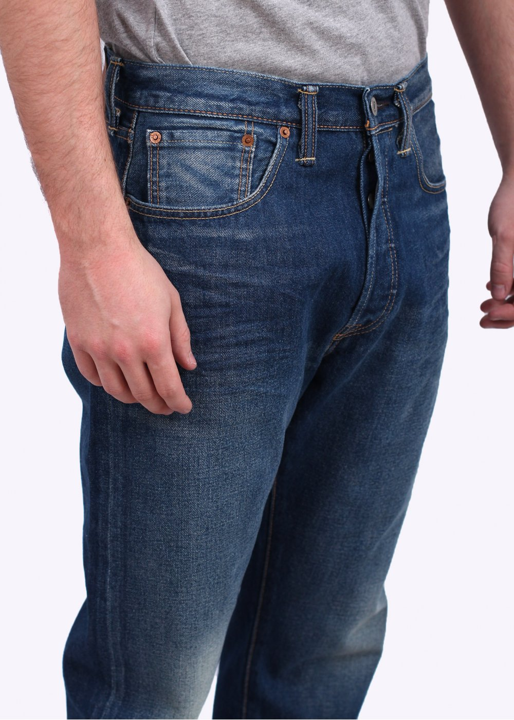 501 CT Custom Tapered Dalston Jeans - Blue