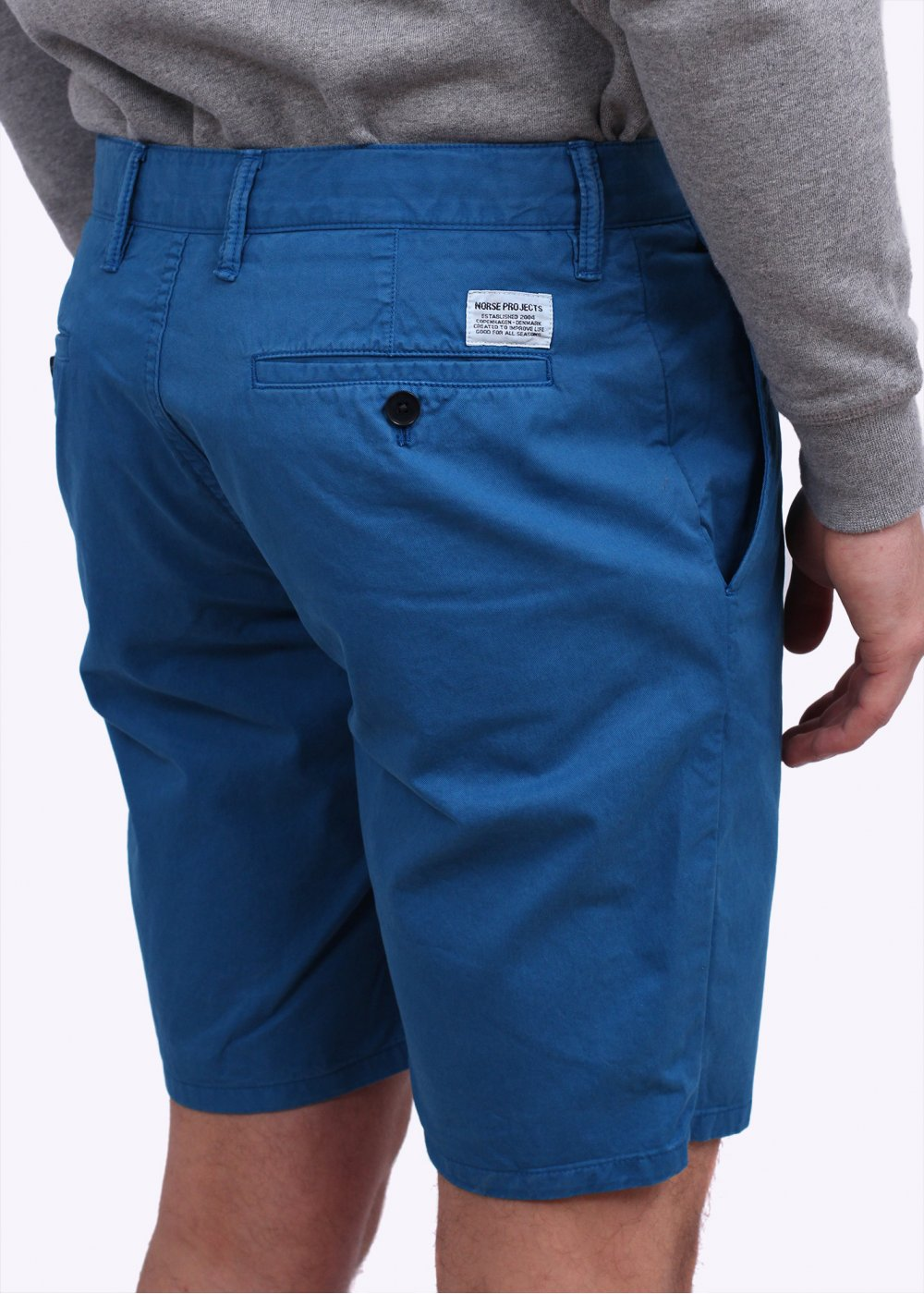 a38e4ed8b9d Norse Projects Aros Light Twill Shorts - California Blue