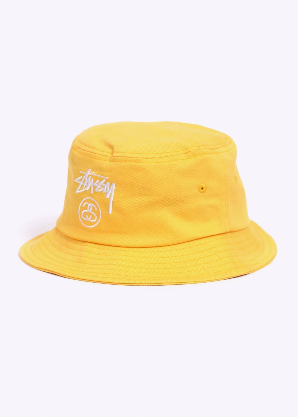 Stussy Stock Lock Bucket Hat - Yellow 214b95260bd