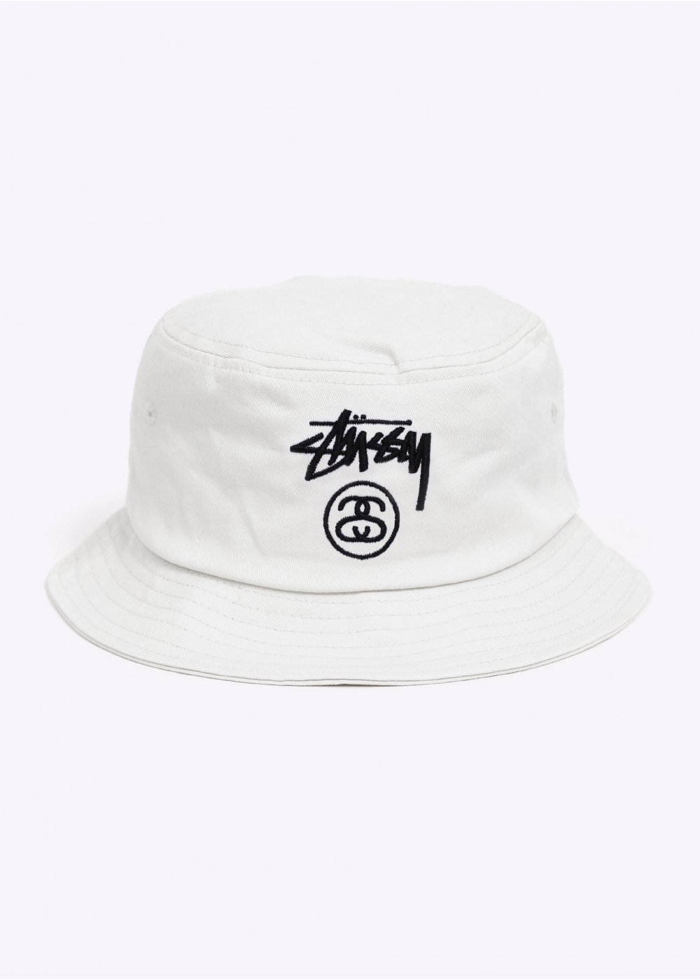 6f15c3dc4f9d8 Stussy Stock Lock Bucket Hat - White