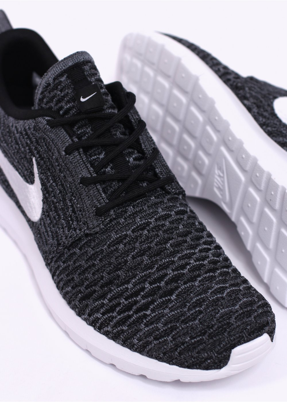 huge discount 480c5 593d8 Flyknit Roshe Run Trainers - Black   White   Dark Grey   Cool Grey