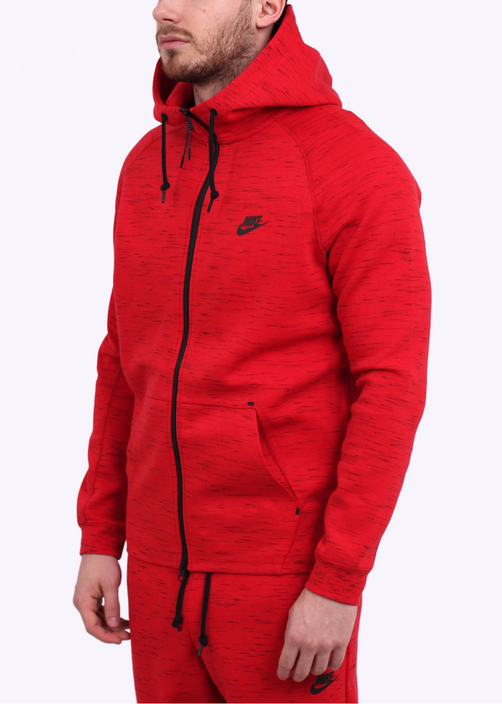 Nike AW77 Tech Fleece Hoodie Red