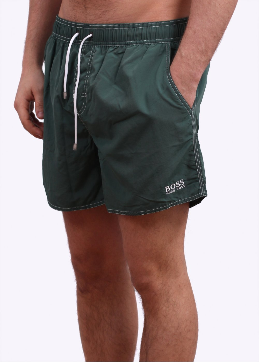 7ace46ea3 Hugo Boss Lobster Swim Shorts - Dark Green