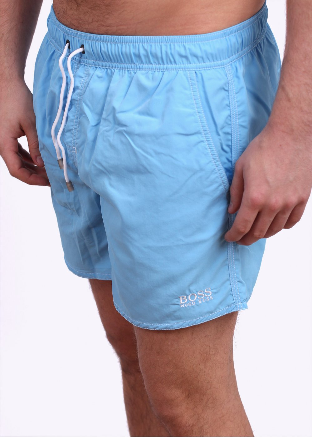 e6ed5c7fd Hugo Boss Black Lobster Swim Shorts - Light Blue