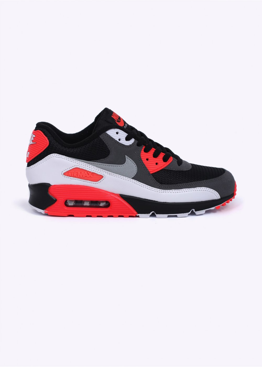 Nike Footwear Air Max 90 OG Reverse Infrared Trainers Black Neutral Grey