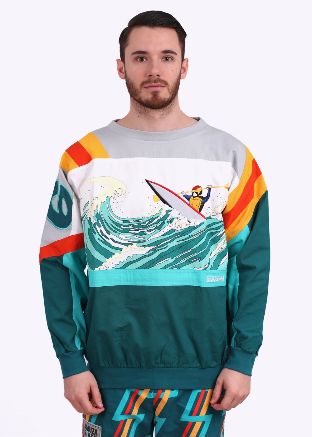 Adidas Originals Canoe Island Crew Sweatshirt Multi Coloured