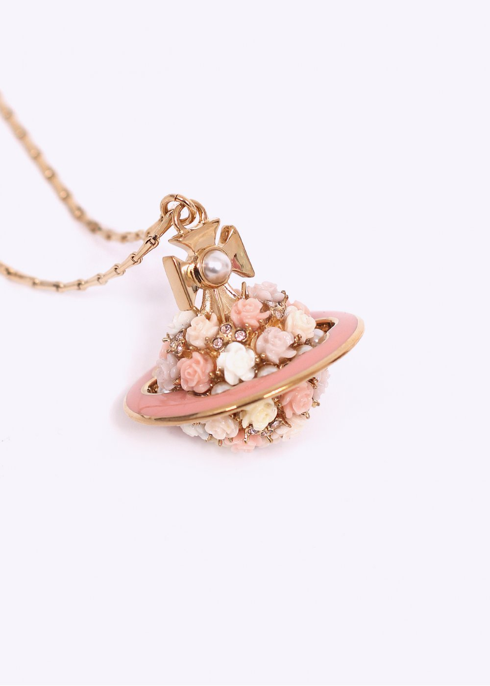 diamond x product cheeky rose peach gold crt pendant want necklace