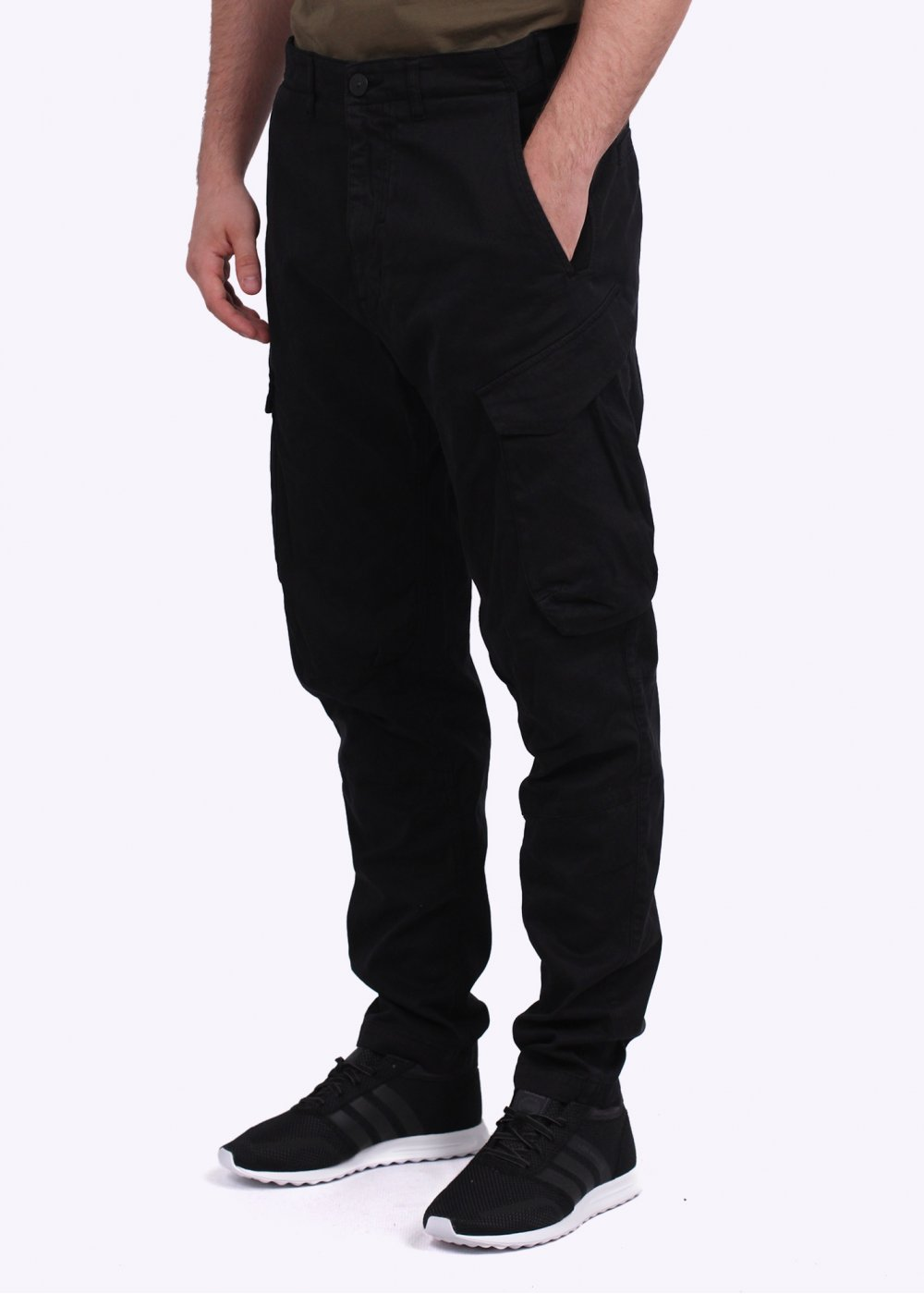 Stone Island Cargo Pants - Black - Trousers from Triads UK