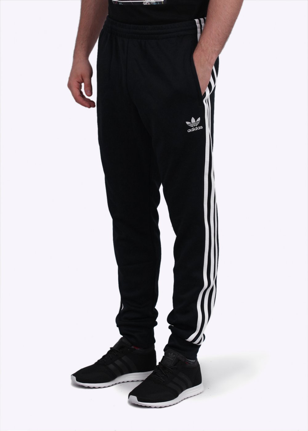 87cb7ee716 adidas Originals Apparel SST Cuffed Track Pants - Black