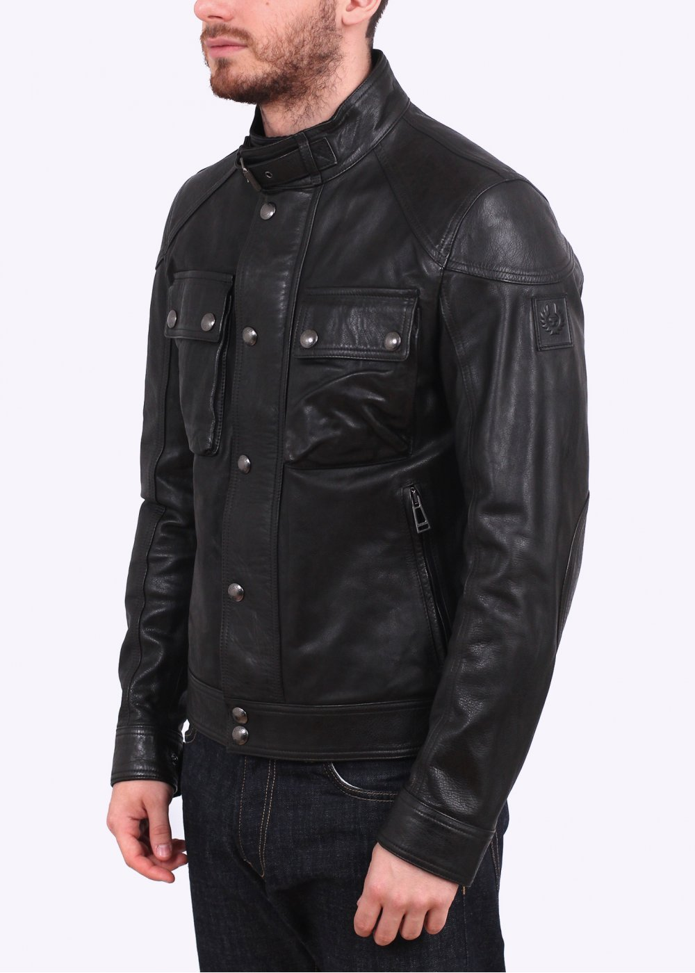 Belstaff Racemaster Black Leather