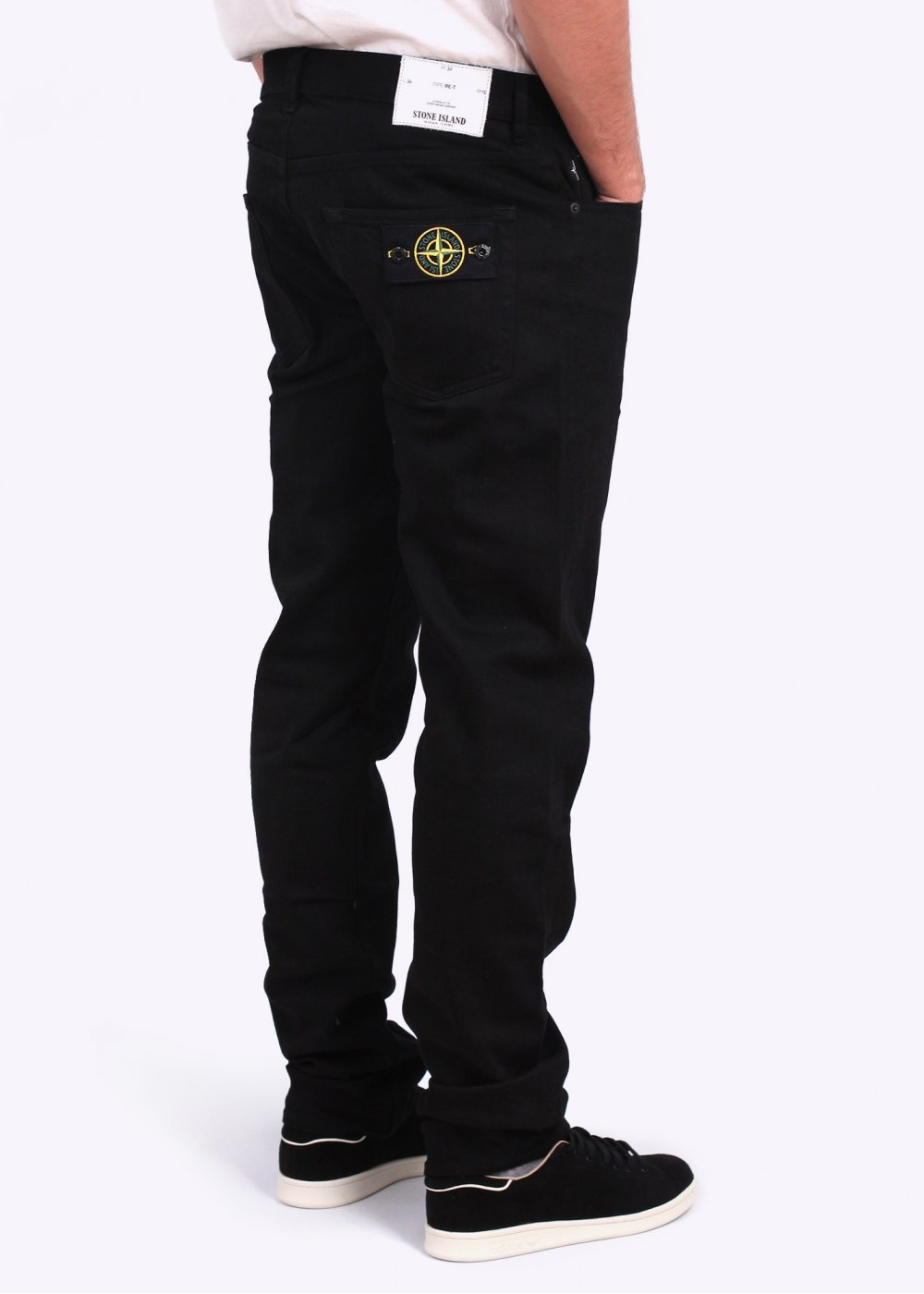 Stone Island Regular Tapered Trousers Black