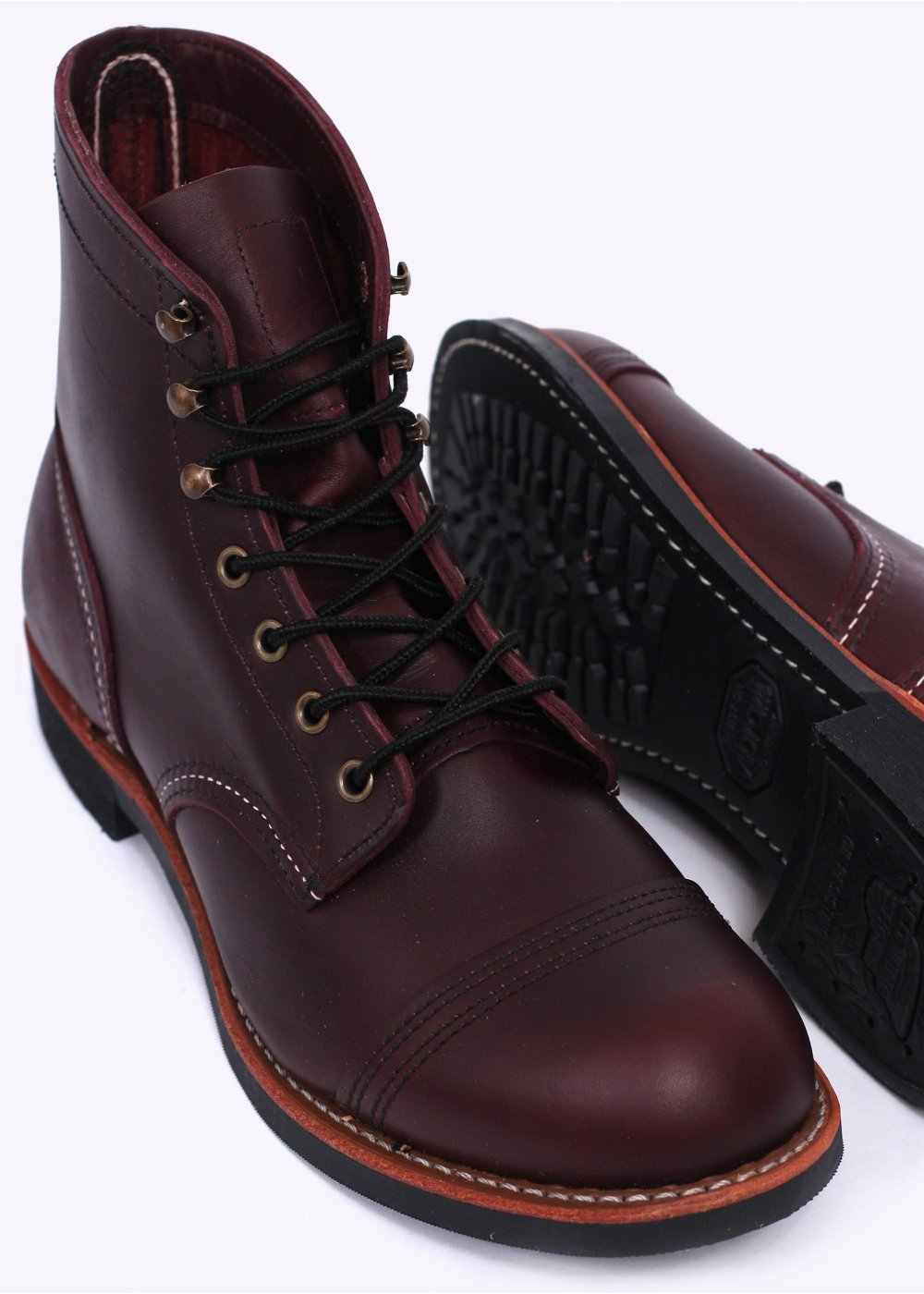 726a7aa57a1 Red Wing Shoes 8119 Heritage Work Iron Ranger Leather Boots - Oxblood