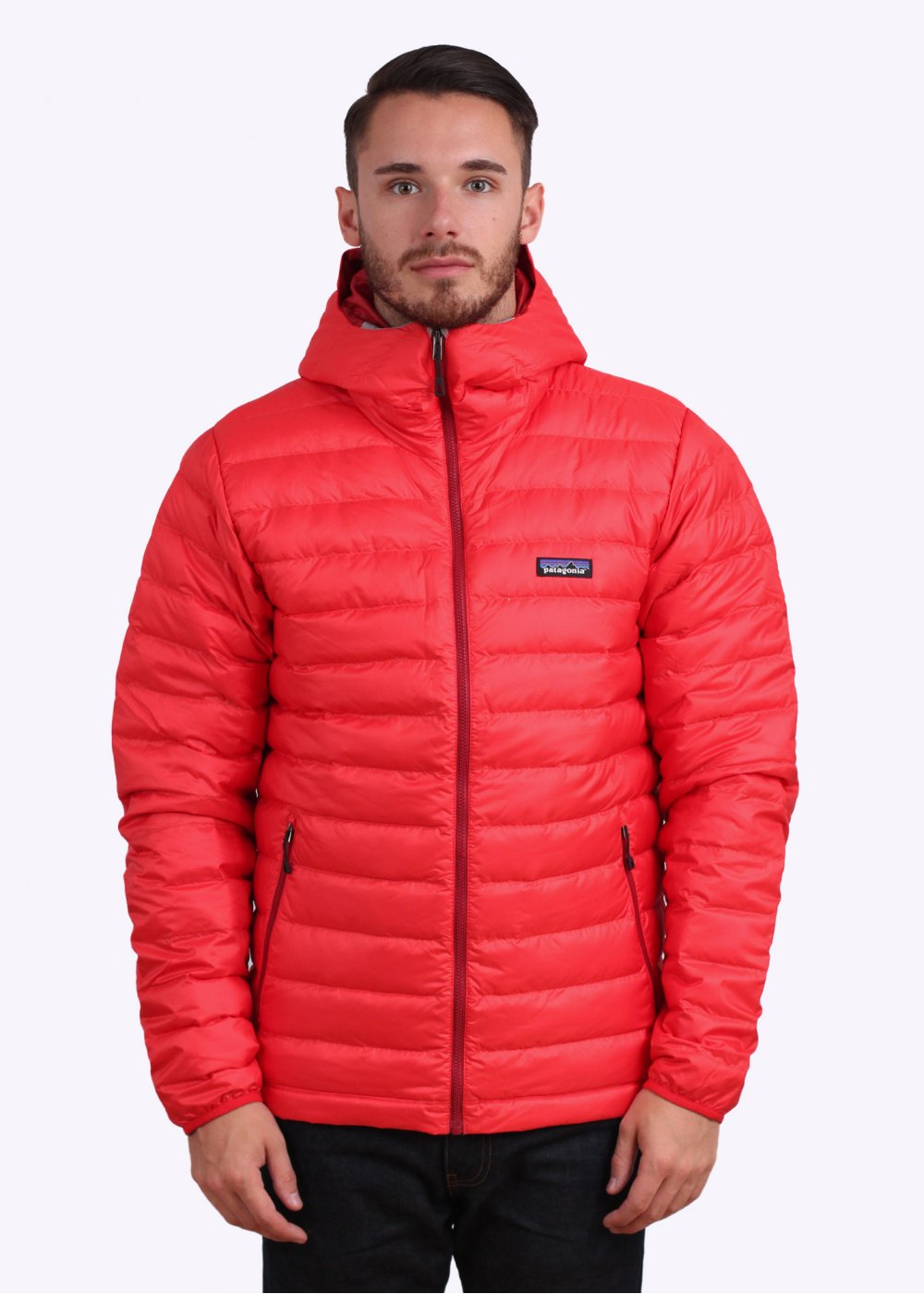 Patagonia Down Sweater Hooded Jacket - French Red