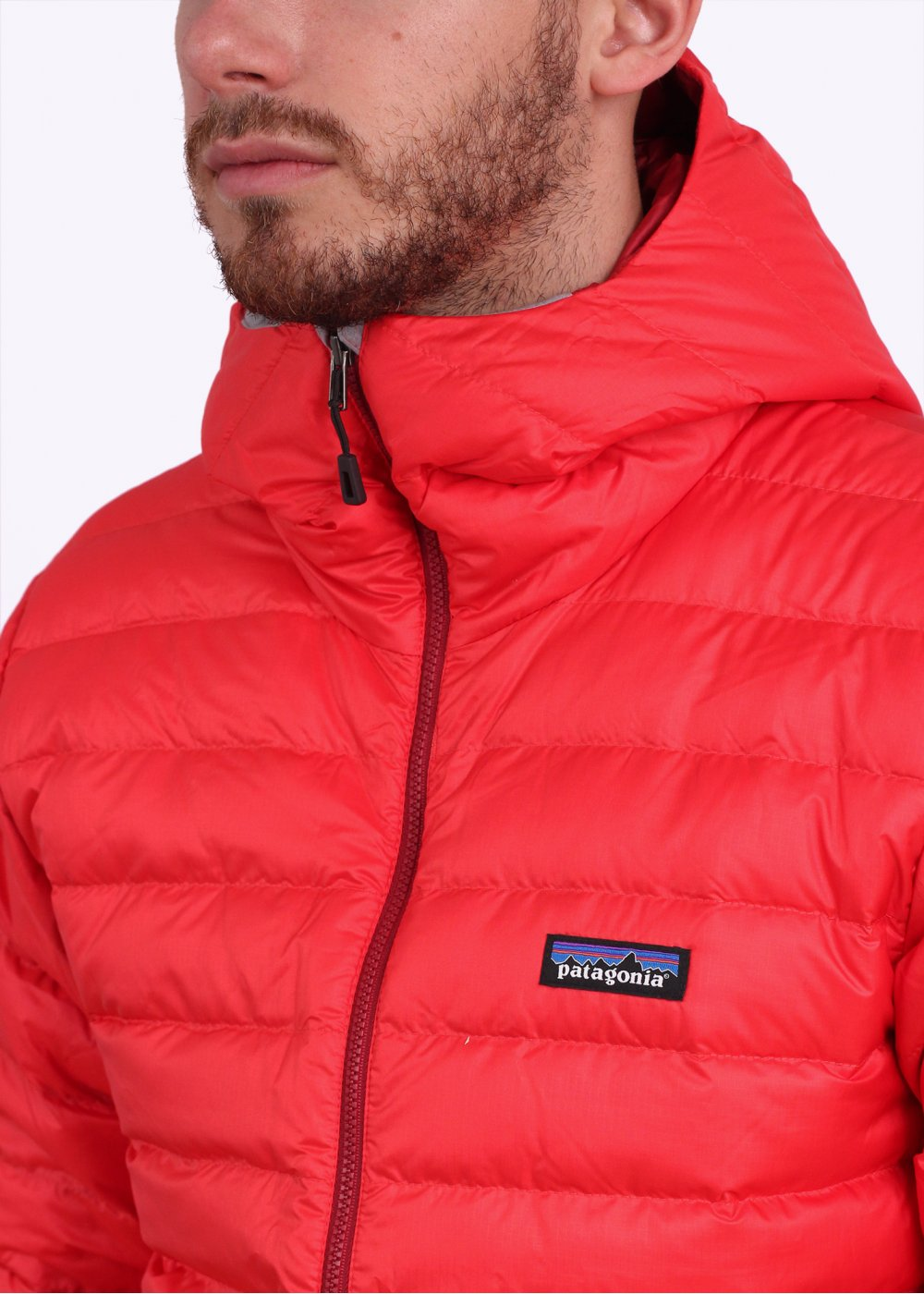 9e76912bd86 Patagonia Down Sweater Hooded Jacket - French Red