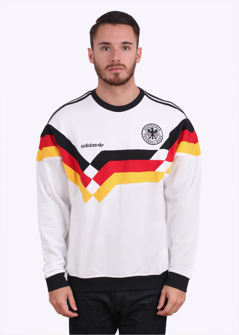 adidas Originals OG DFB Beckenbauer Germany Crew Sweater - White 615d753173c
