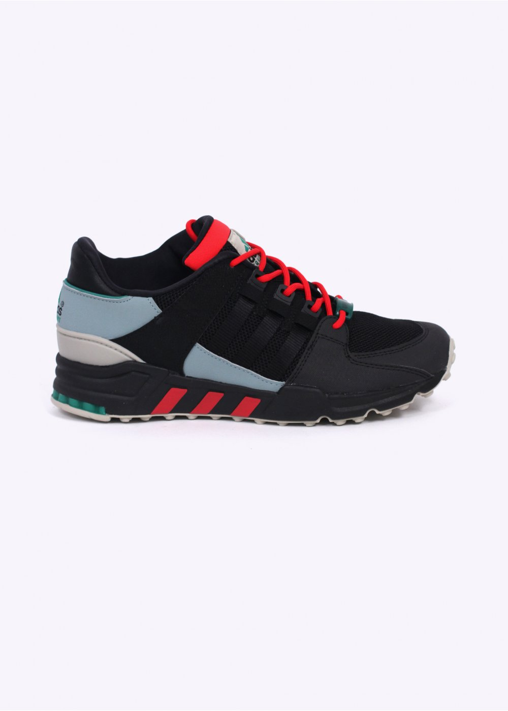 sports shoes 06b05 6e52a adidas Originals Footwear EQT Equipment Running Support 93 Trainers - Core  Black / Green Earth / Carbon