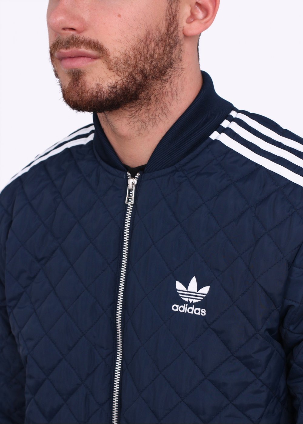 sale watch newest adidas Originals Apparel Quilted SST Superstar Bomber Jacket - Navy Blue