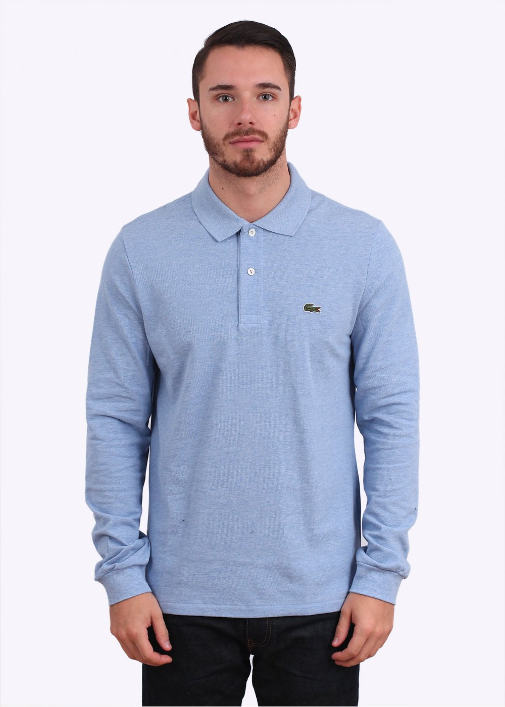 Lacoste Best Long Sleeve Polo Cloudy Blue