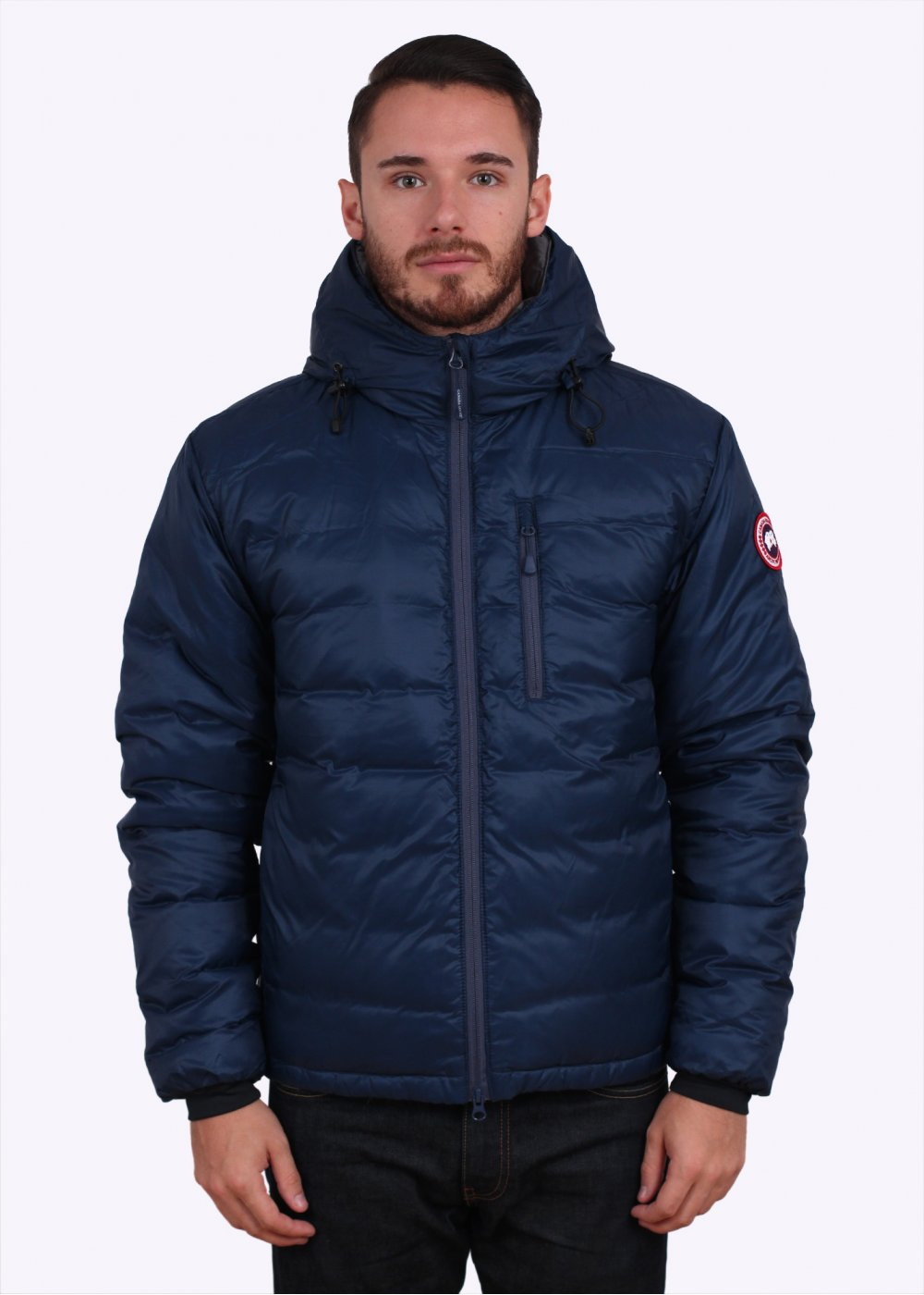 Canada Goose Lodge Hooded Down Jacket Spirit Blue