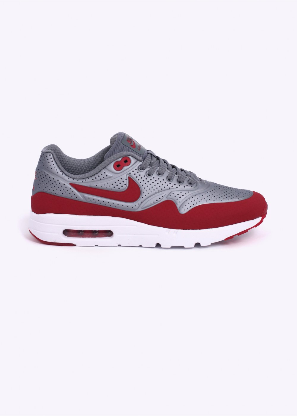 wholesale dealer befbb dd874 Air Max 1 Ultra Moire Trainers - Metallic Cool Grey   Gym Red