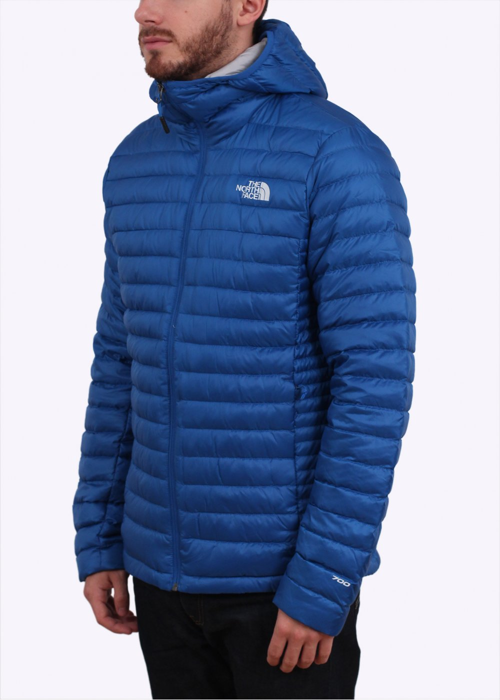 blue north face jacket
