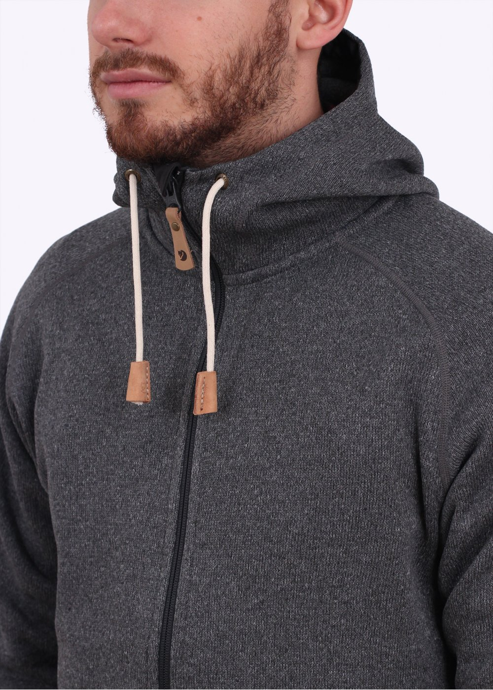 Fjallraven Ovik Fleece Hoodie - Dark Grey