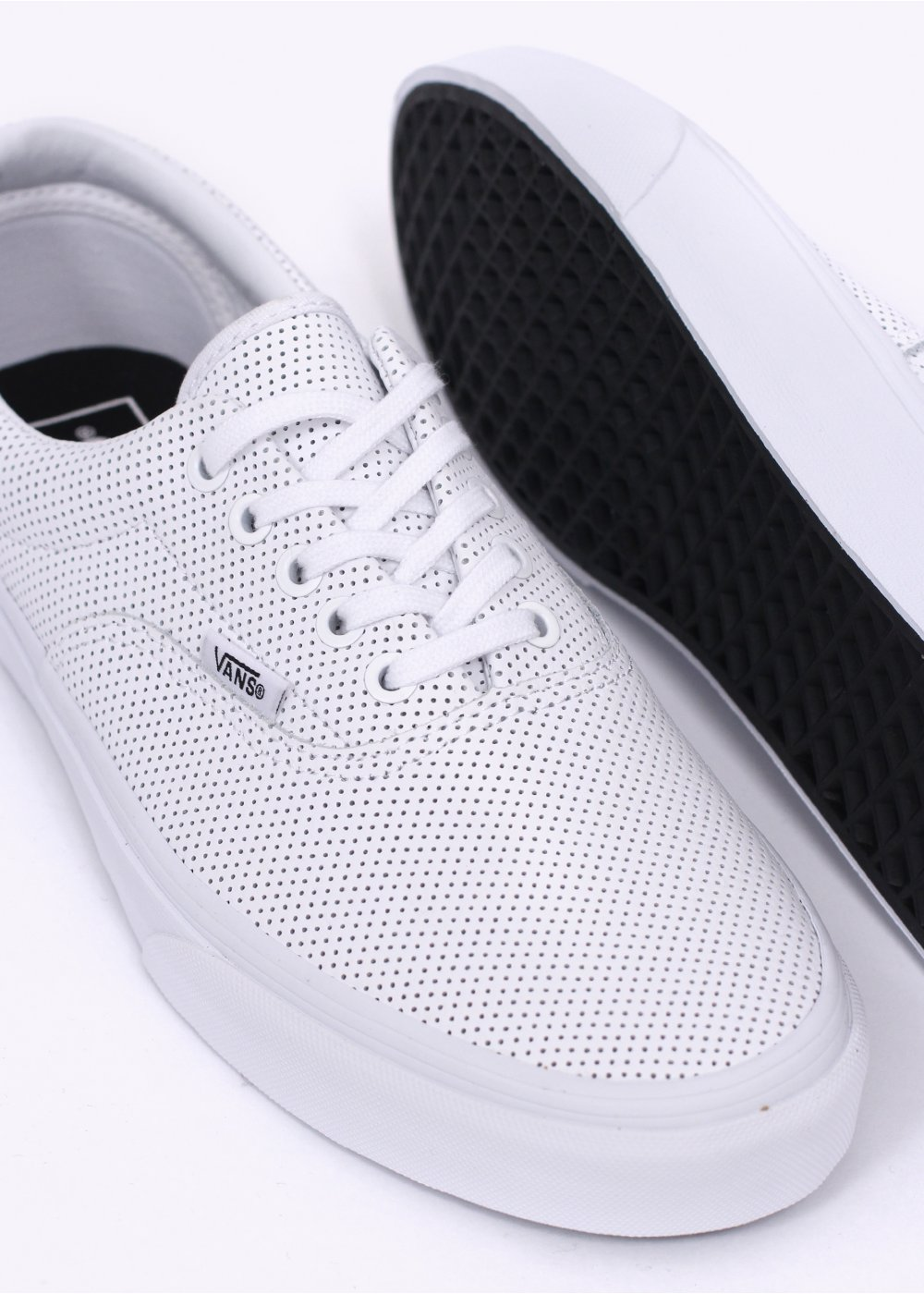 870d1887dd Vans Era Perforated Leather - True White