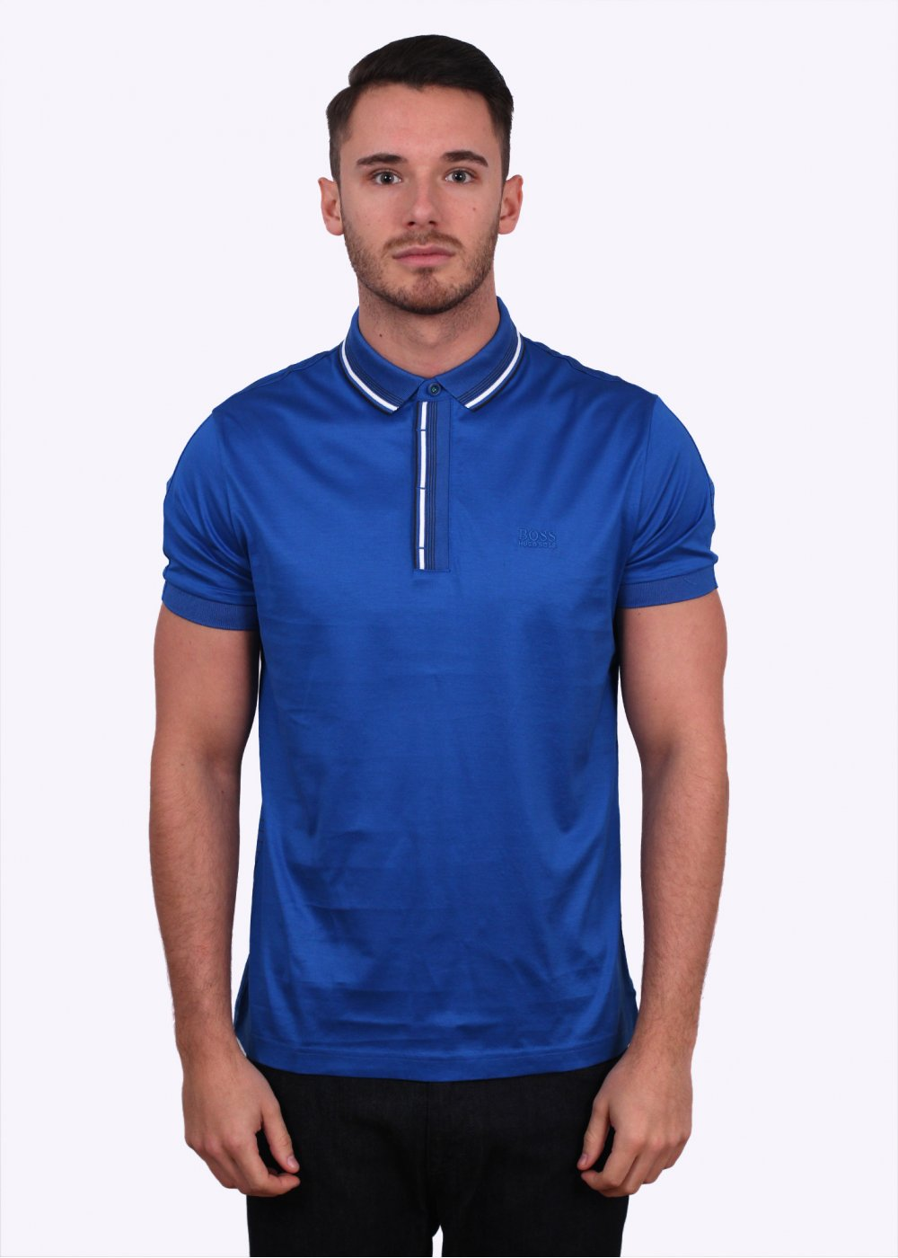 afbc2ca74 Hugo Boss Green Paddy 5 Polo - Open Blue - Triads Mens from Triads UK