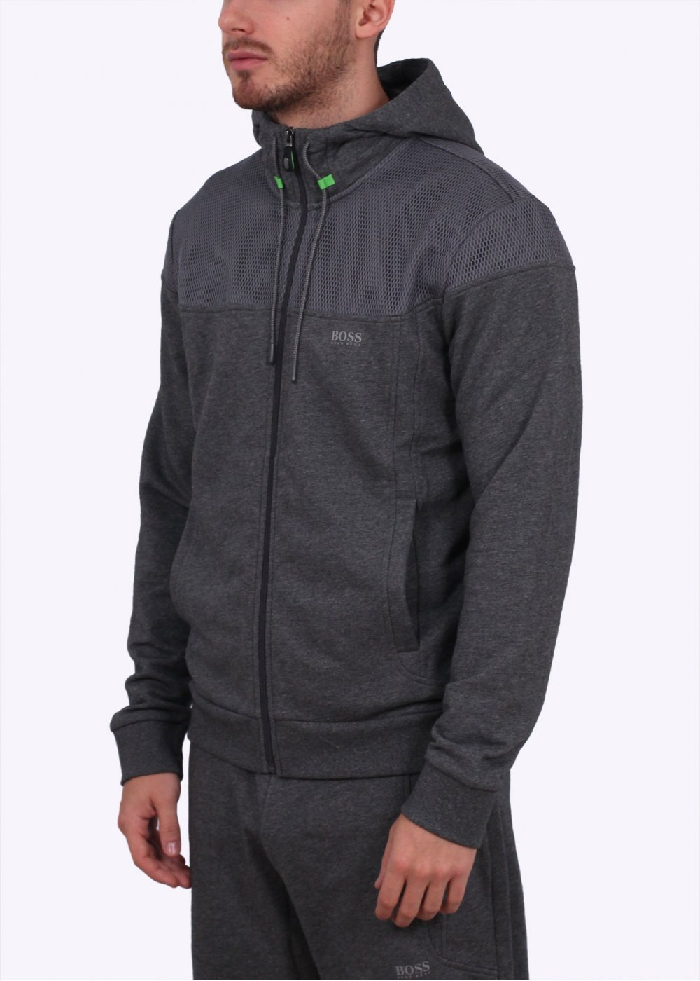 1f6432375 Hugo Boss Green Saggy 1 Hooded Sweatshirt - Medium Grey