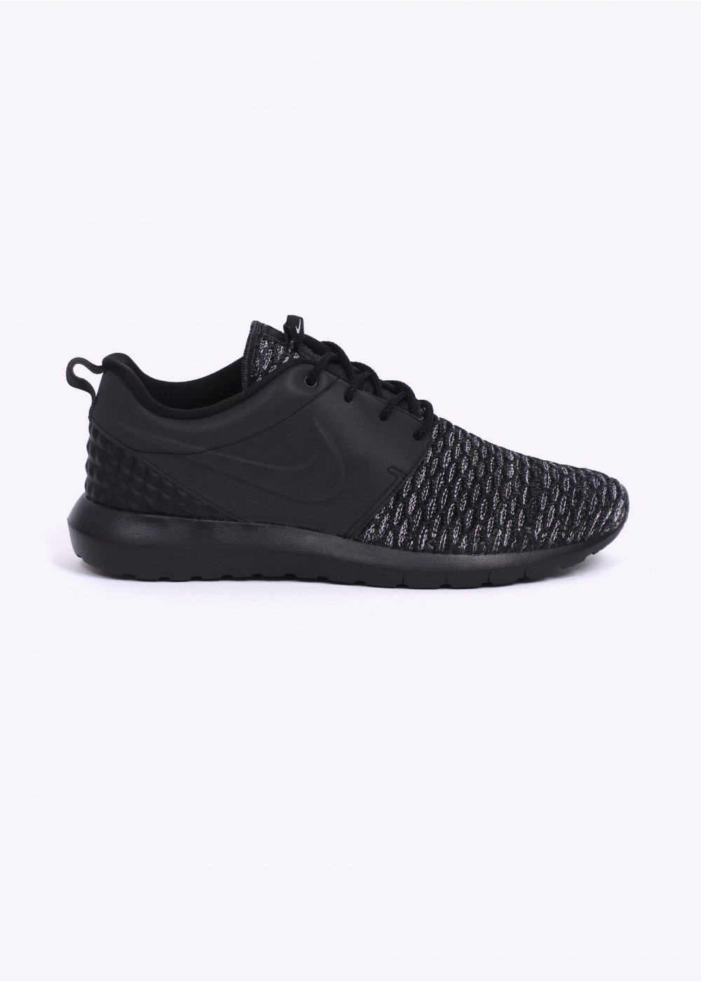 half off 6d4ec 7e8f5 Roshe One Flyknit Premium Trainers - Black   Dark Grey