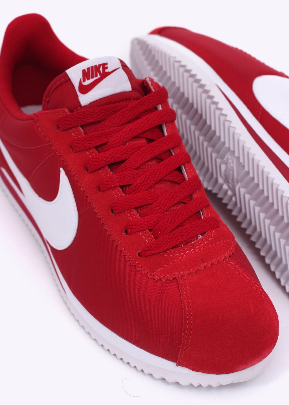 best website 3cb5e d2776 Nike Footwear Classic Cortez Nylon Trainers - Gym Red / White