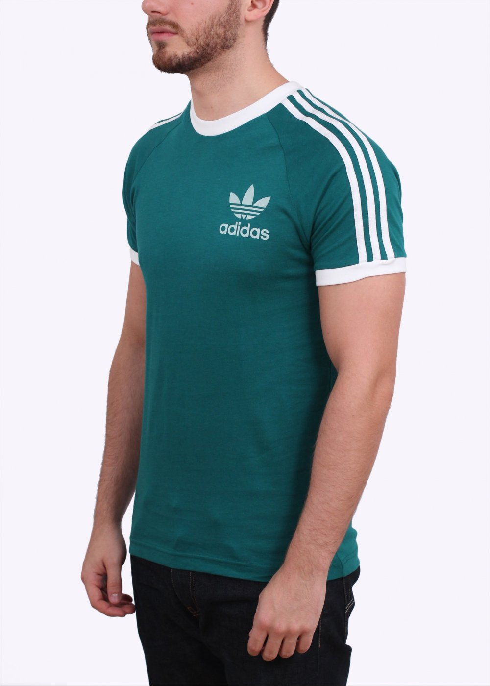 Sport Essential Tee - Emerald Green / White