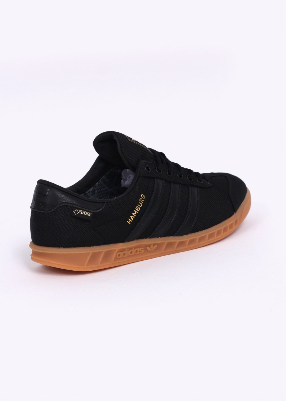 4685b5453699 adidas Hamburg GTX Gore-Tex Trainers - Core Black   Gum