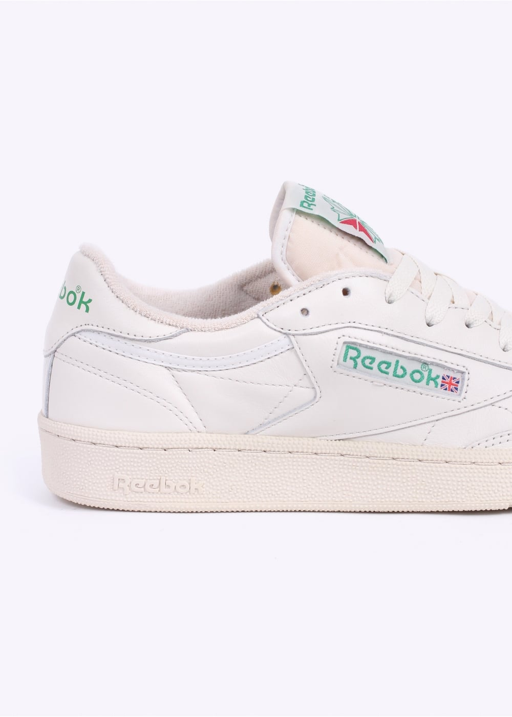 d738c8b0cd2ca9 Reebok Club C 85 Vintage Trainers - Chalk   Green - Triads Mens from ...