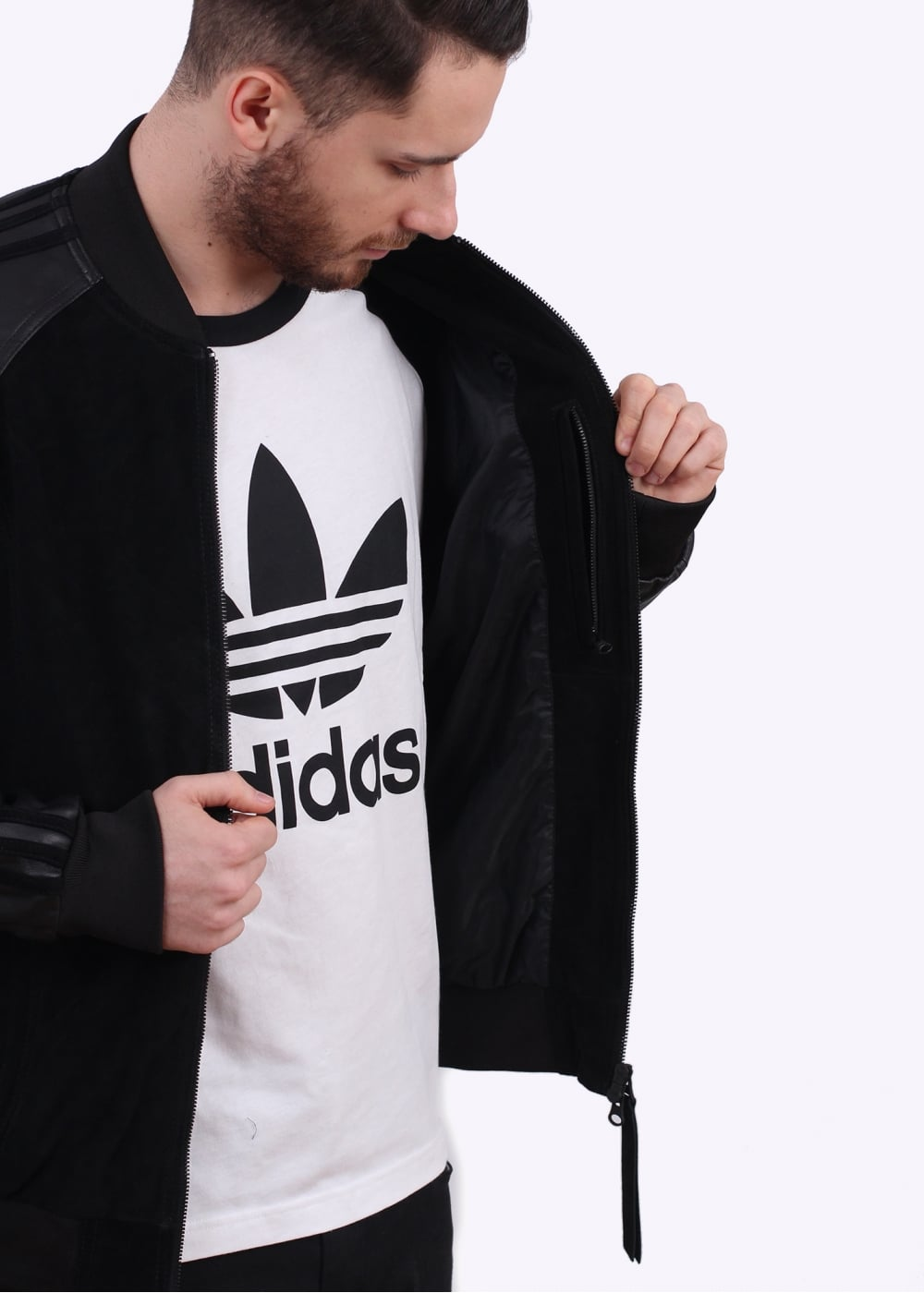 adidas Originals Apparel Lux SST Leather Jacket Black