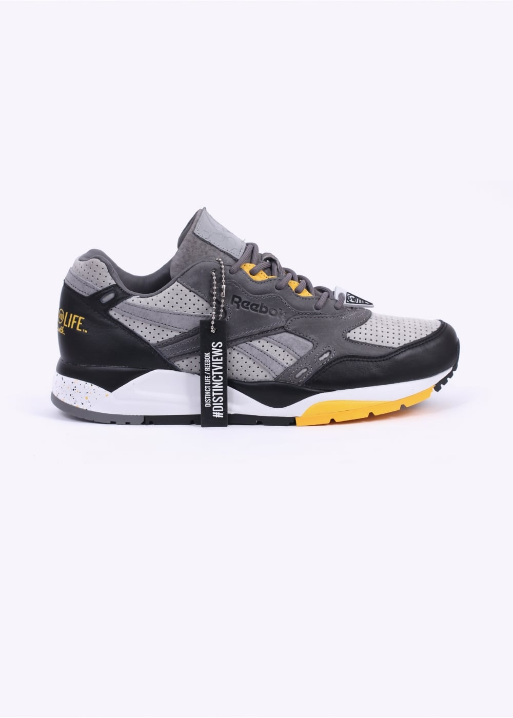 ef7a7eef1ee Reebok x Distinct Life Bolton DV  Distinct Views - Detroit  Trainers - Tin  ...