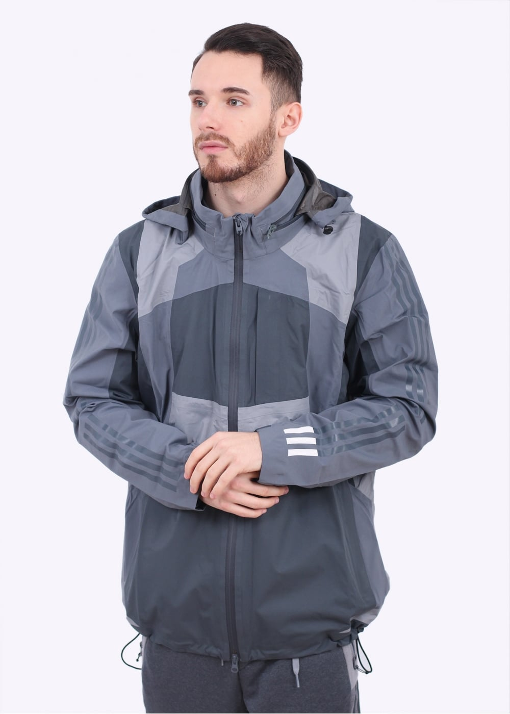 adidas Originals Apparel x White Mountaineering Shell Jacket Grey