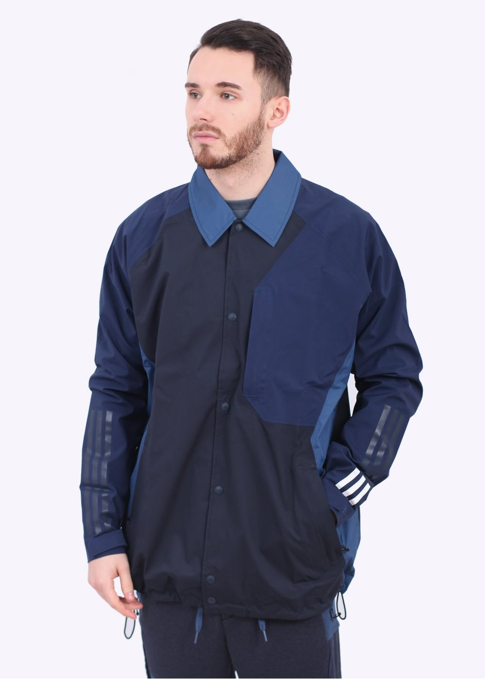 Adidas originals x white mountaineering bench jacket navy Bench jacket