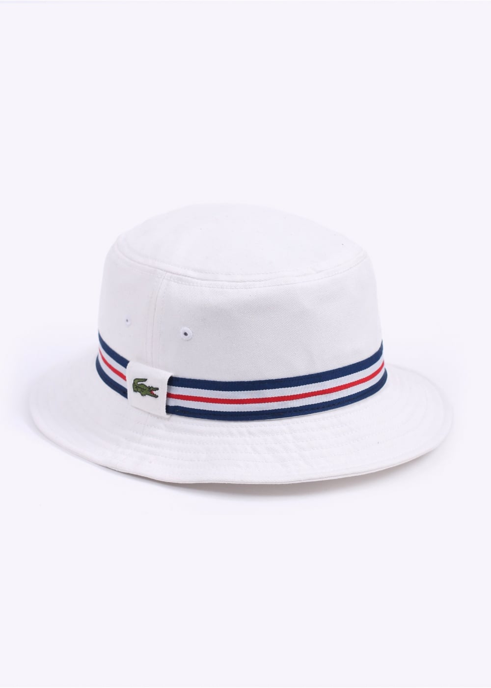 64704bacf76 Lacoste Bucket Hat - White